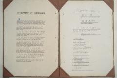 Americká kopie kapitulační listiny podepsané 2. září v Tokijském zálivu
