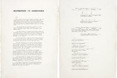 Japonská kopie kapitulační listiny podepsané 2. září 1945 v Tokijském zálivu.